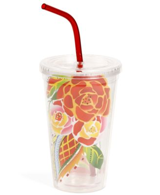 Vida by Espana Rose Print Travel Tumbler