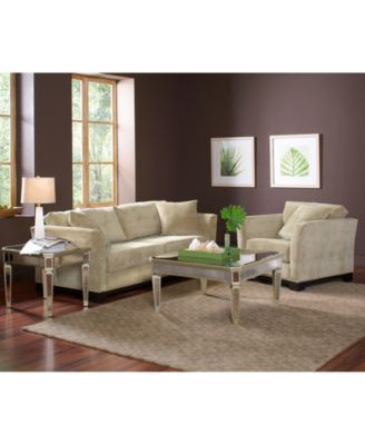 elliot fabric microfiber sofa - furniture - macy's