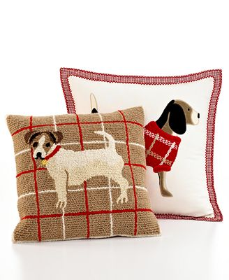 Martha Stewart Collection Bedding, Dogs Decorative Pillows - Decorative Pillows - Bed & Bath ...