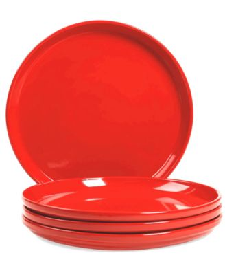 Stax Living Set Of 4 Red Dinner Plates