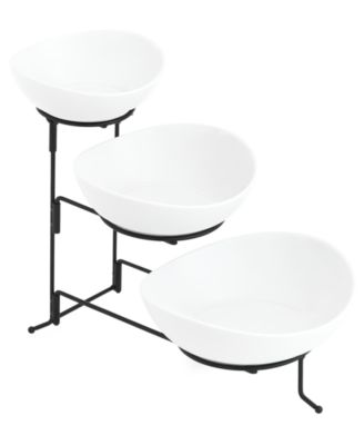 The Cellar Whiteware 3 Tiered Oval Server