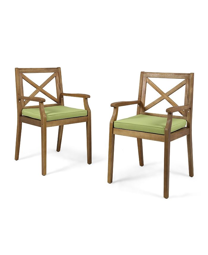 Noble House - Perla Outdoor Dining Chair, Quick Ship (Set of 2)