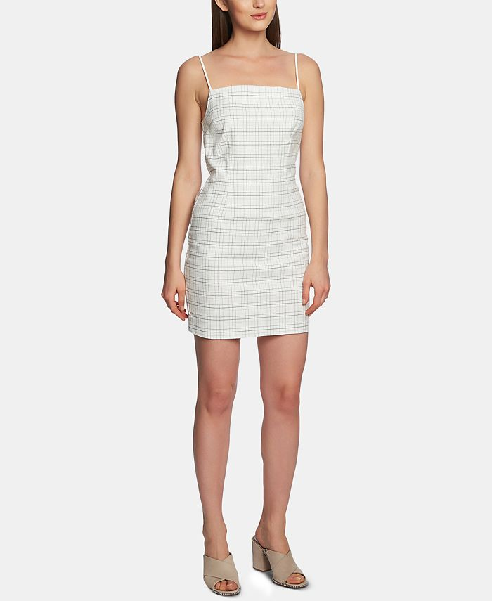 1.STATE - Mini-Windowpane Bodycon Dress