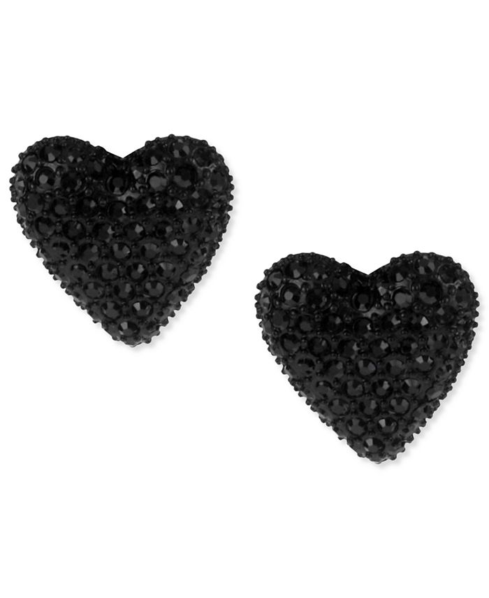 Betsey Johnson - Black Heart Stud Earrings