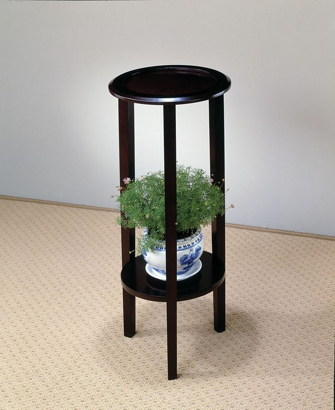 Coaster Home Furnishings Irvine Round Plant Stand Table with Bottom Shelf