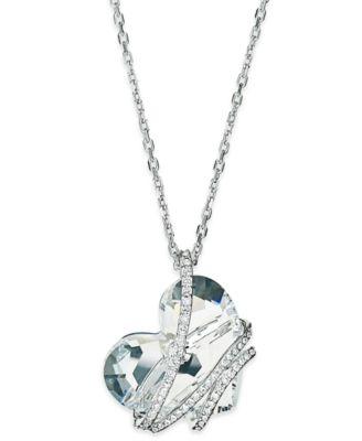 Swarovski necklace silver tone crystal heart pendant necklace swarovski necklace silver tone crystal heart pendant necklace mozeypictures Images