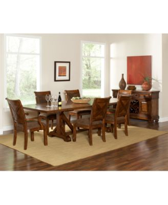 Mandara 9 Pc. Dining Room Set (Table, 6 Side Chairs And 2