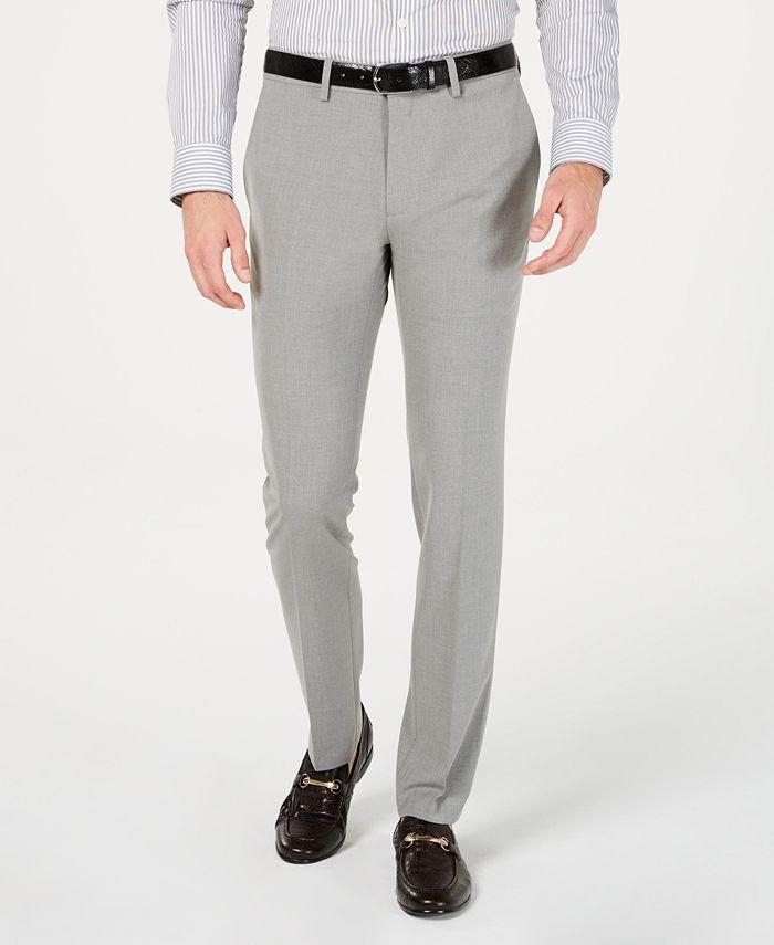 Kenneth Cole Reaction - Men's Gabardine Skinny/Extra-Slim Fit Performance Stretch Flat-Front Dress Pants