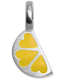Alex Woo Mini Lemon Slice Charm in Sterling Silver