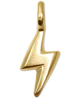 Mini Bolt Charm in 14k Gold