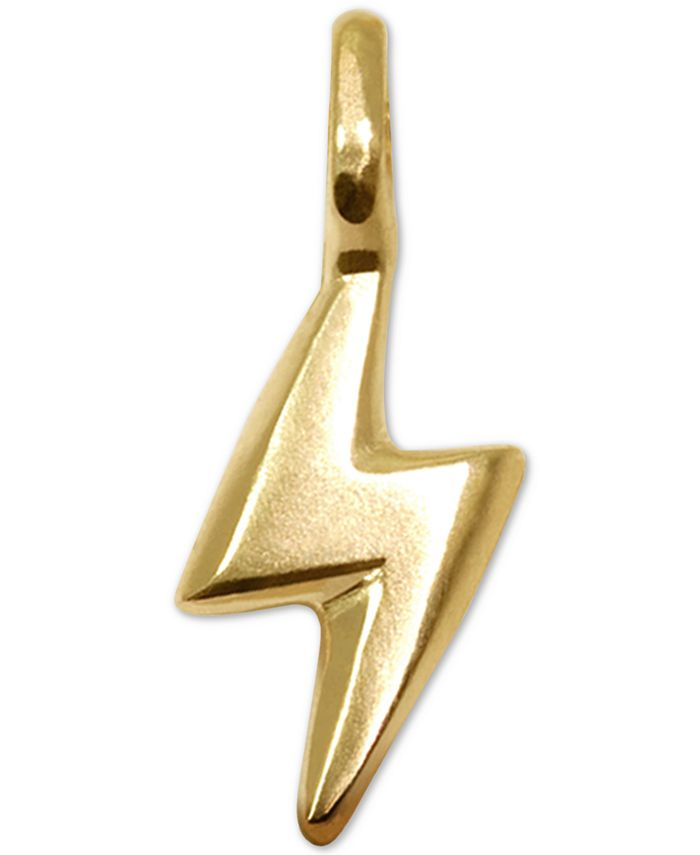 Alex Woo - Mini Bolt Charm in 14k Gold