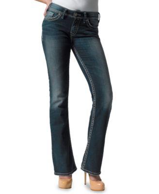 Silver Jeans Juniors Suki Bootcut Jeans, Dark Wash - Jeans ...