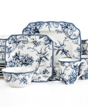 222 Fifth Adelaide Blue Square 16-Piece Set $ 200.00