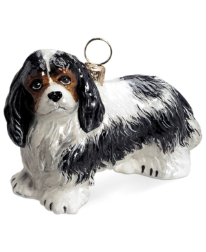 Joy to the World Cavalier King Charles Tri Color Pet Charity Ornament