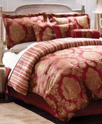 CLOSEOUT! Palazzo  7 Piece King Jacquard Comforter Set