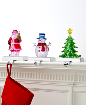 Holiday Lane Christmas Stocking Holder, Light Up Acrylic Figurine