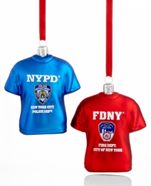 Kurt Adler Christmas Ornament, NYPD & FDNY T Shirt