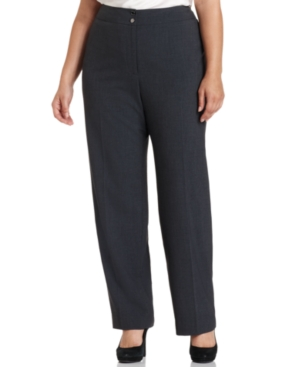 Calvin Klein Plus Size Pants, Wide Leg Suiting