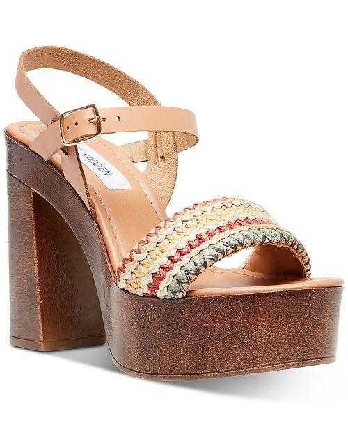 pila oído Célula somatica  Steve Madden Women's Laurisa Wood Platform Sandals & Reviews - Heels &  Pumps - Shoes - Macy's