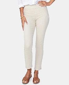 NYDJ Tummy-Control Pull-On Ankle Skinny Jeans