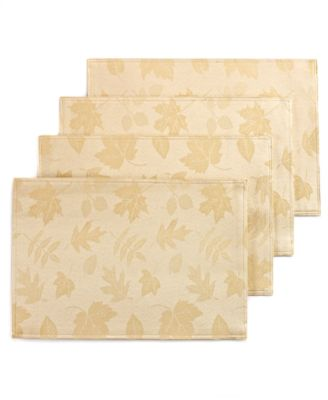 Homewear Table Linens, Set of 4 Dinner Party Bountiful Placemats