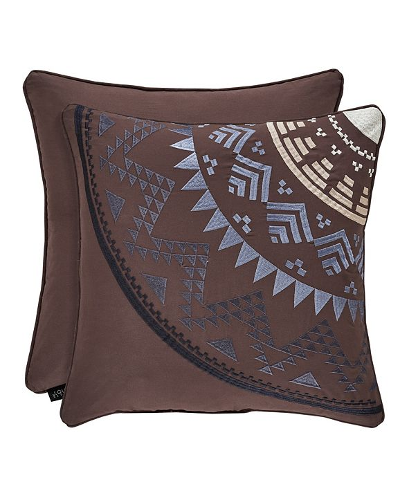 "J Queen New York J Queen Okemo  18"" Square Decorative Throw Pillow"