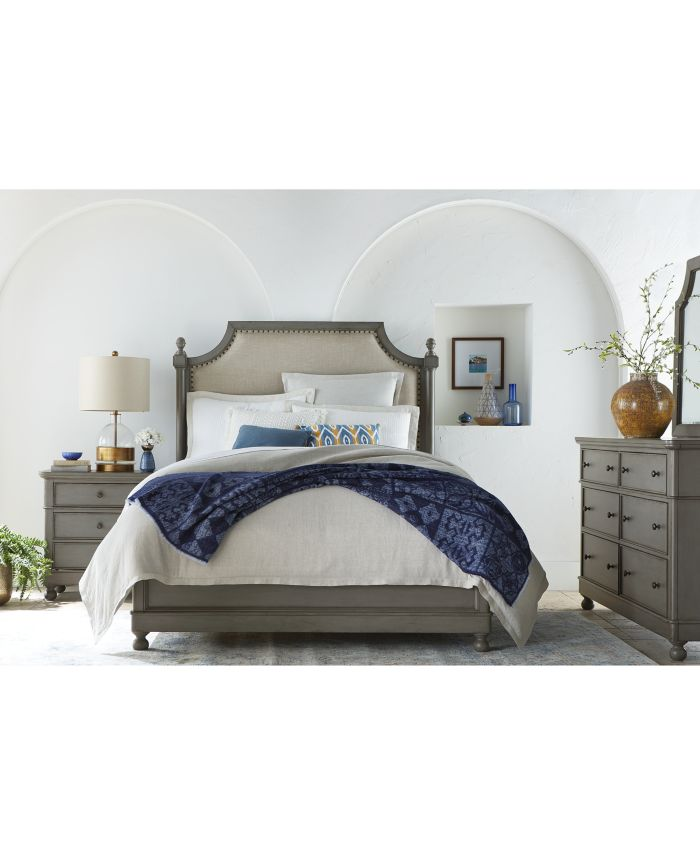 Furniture Bella Upholstered King Bed, Created for Macy's & Reviews - Furniture - Macy's