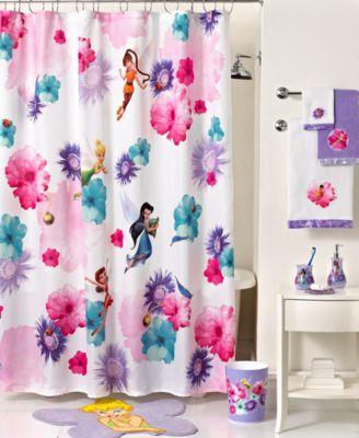 Disney Bath Accessories, Fairies Rosey Shower Curtain