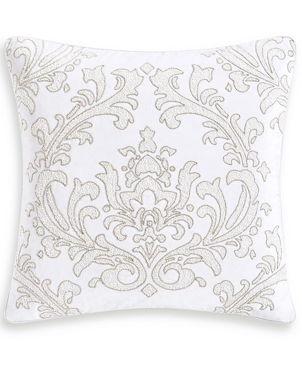 """Hotel Collection Classic White Shop 18"""" Square Decorative Pillow, Created for Macy's"""