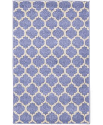 "Arbor Arb1 Light Blue 3' 3"" x 5' 3"" Area Rug"