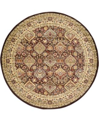 Passage Psg7 Brown 8' x 8' Round Area Rug