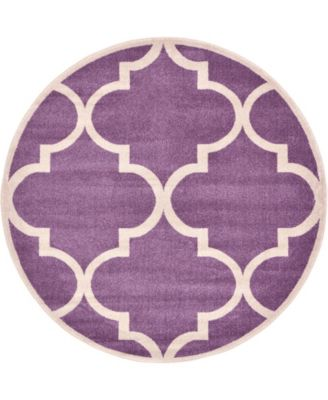 Arbor Arb3 Purple 6' x 6' Round Area Rug