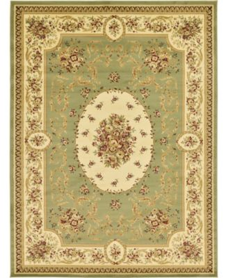 Belvoir Blv4 Green 9' x 12' Area Rug