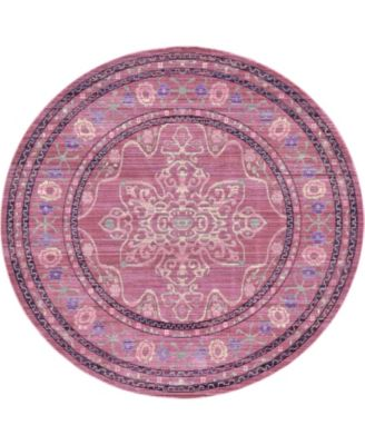 Malin Mal2 Pink 6' x 6' Round Area Rug