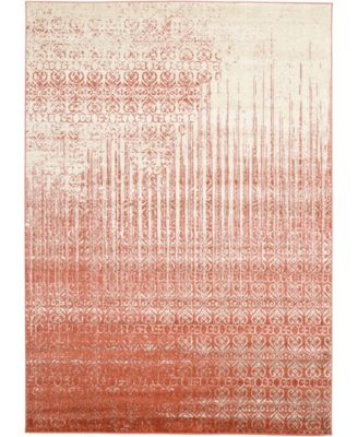 Lyon Lyo2 Red 7' x 10' Area Rug