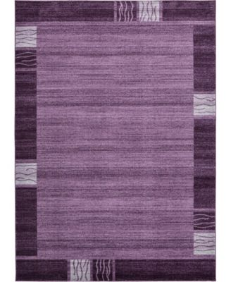 Lyon Lyo1 Purple 7' x 10' Area Rug