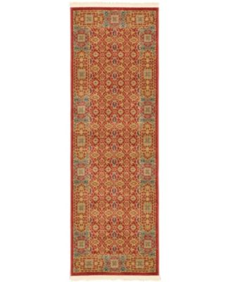 Wilder Wld7 Red 2' x 6' Runner Area Rug