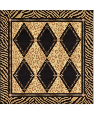 Maasai Mss6 Light Brown 6' x 6' Square Area Rug