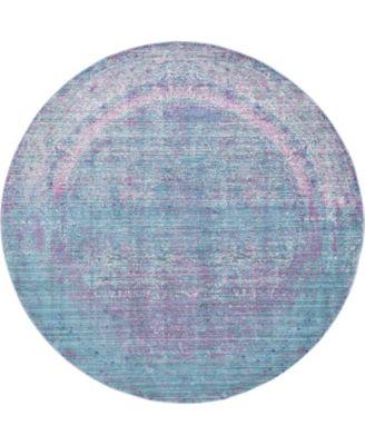 Malin Mal8 Light Blue 6' x 6' Round Area Rug