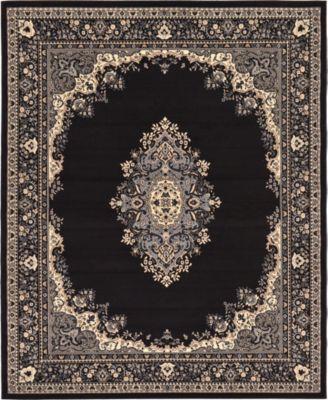 Birsu Bir1 Black 8' x 10' Area Rug