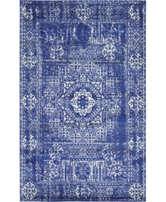 Wisdom Wis3 Royal Blue 5' x 8' Area Rug