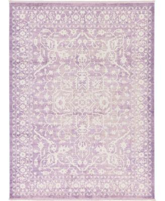 Norston Nor1 Purple 9' x 12' Area Rug