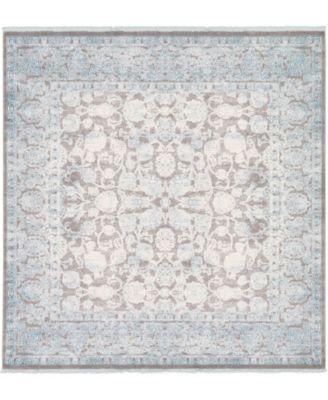 Norston Nor3 Blue 8' x 8' Square Area Rug