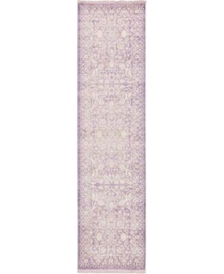 "Norston Nor1 Purple 2' 7"" x 10' Runner Area Rug"