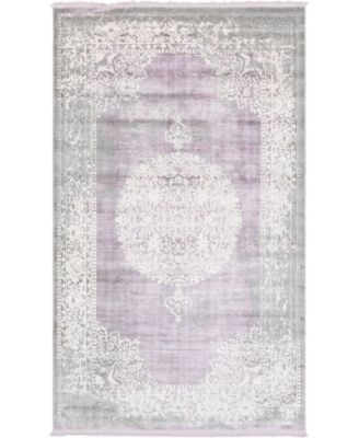 Norston Nor4 Purple 5' x 8' Area Rug