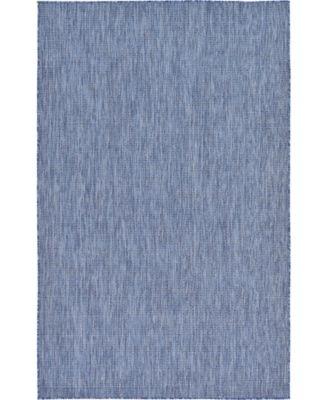 Pashio Pas6 Navy Blue 5' x 8' Area Rug