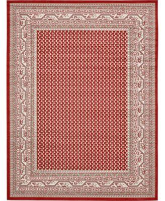Axbridge Axb1 Red 9' x 12' Area Rug
