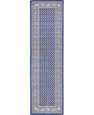"Axbridge Axb1 Blue 2' 9"" x 9' 10"" Runner Area Rug"