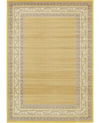 Axbridge Axb1 Yellow 7' x 10' Area Rug