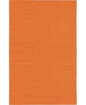 Axbridge Axb3 Orange 5' x 8' Area Rug